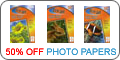 50% off Projet photo papers when buying ink